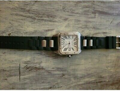 $3510 • Buy Cartier Watch Men Used Swiss Made Santos 100 1904-2004 Automatic St