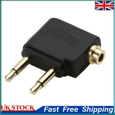 £6.63 • Buy 3.5mm Jack Audio Adapter For Airline Airplane Travel Earphone Headphone ①a