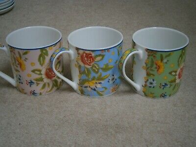 £14.99 • Buy 3 Beautiful Stylish Aynsley Fine China Flower Mugs Excellent Barely Used Cond