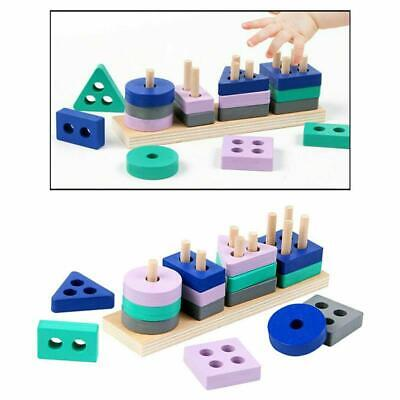 £4.99 • Buy Wooden Geometric Shapes Stacking Shape Sorter Sorting Toy For Child Education