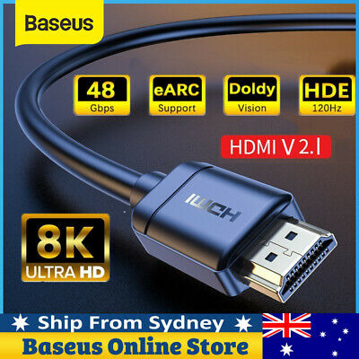AU9.99 • Buy Baseus Premium 8K 120Hz HDMI V2.1 To HDMI Cable 48Gbps HD Adapter For PS5 TV Box
