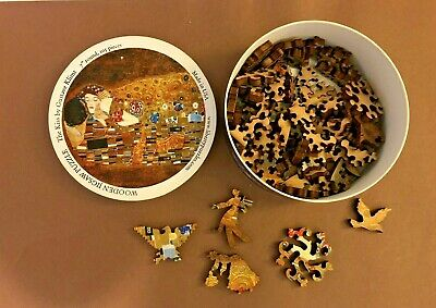 $ CDN125.88 • Buy Liberty Puzzles Round Wooden  The Kiss  By Klimt Interesting Shapes Puzzle