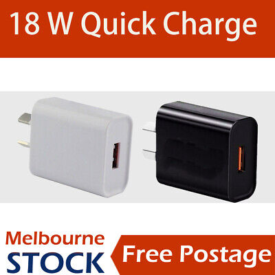 AU6.85 • Buy 5V 3A Quick Charge Universal Fast USB Wall Charger 18W Power Adapter  AU Plug
