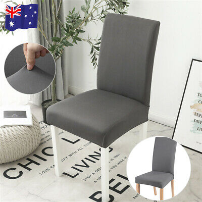 AU12.99 • Buy AU Dining Chair Seat Covers Slip Removable Stretch Wedding Banquet Party Decor