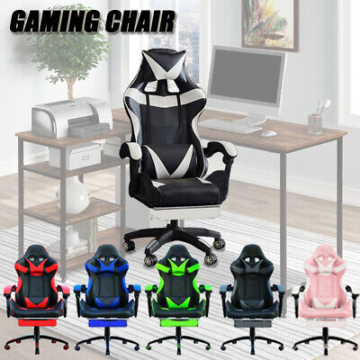 AU139 • Buy Extra Wide Deluxe Gaming Chair Office Computer Racing Pu Leather
