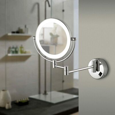 £9.99 • Buy LED Lighted Luxury Wall Mounted Mirrors Makeup Shaving Mirror Bathroom