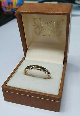 £249.95 • Buy 9ct Clogau Gold Platte Ring Size U 1/2 Yellow And Rose 375 9carat Heavy