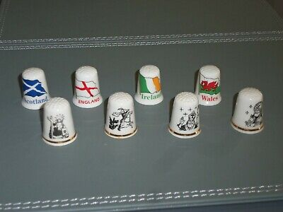 £7.99 • Buy Full Set Of 8 China Thimbles With UK Flags And Saints St George Andrew Etc