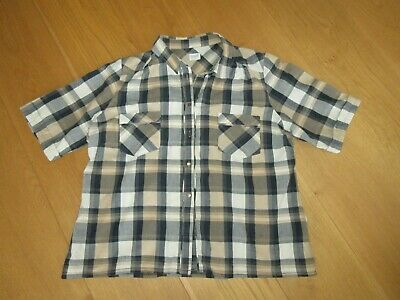 £2.99 • Buy Ladies Marks & Spencer Autograph Neutral Check Short Sleeve Blouse, Size 16