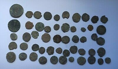 £25 • Buy LOT OF 52 ANCIENT ROMAN IMPERIAL AND BYZANTINE BRONZE COINS III-X Century AD