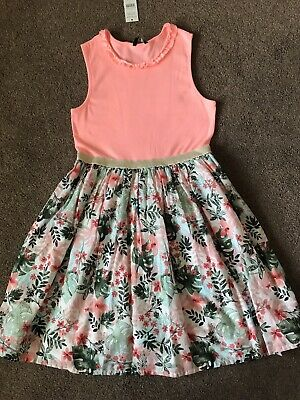 £10.99 • Buy Girls Summer Dress - George - Age 13-14 Years - Coral & Floral - New With Tag!