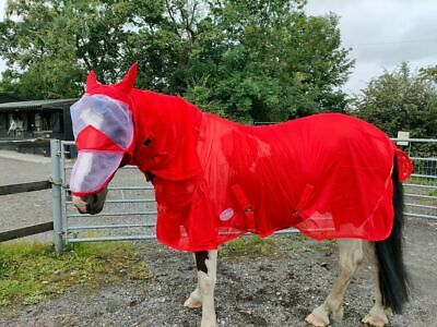 £21.99 • Buy Equipride  Horse Fly Rug Fly Sheet Red  With Detachable Neck And Fly Mask