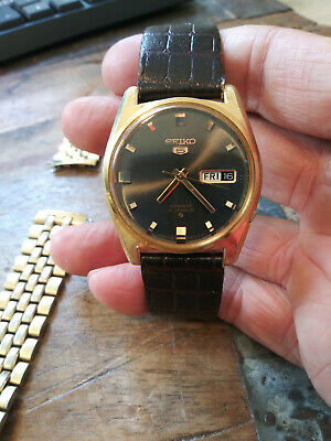 $ CDN86.85 • Buy Vintage 1971 Seiko 5 Automatic 6119-8095 Gold Plated Men's Watch Nice!!!