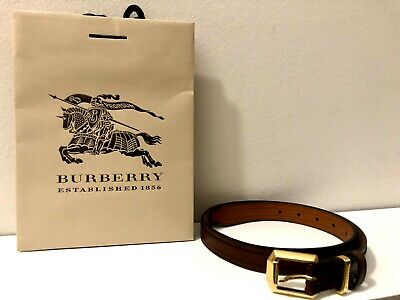 £69 • Buy BURBERRY Women Belt With Gold Buckle Made In Italy New With The Original Bag