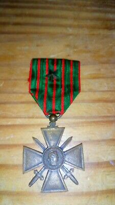 £15 • Buy French Forces World War 1 Croix De Guerre Dated 1914-1918 With Commendation Star