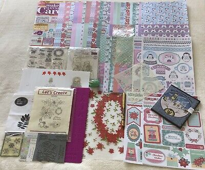 £7 • Buy Craft Room Clear Out Christmas Card Making Bundle Mostly New