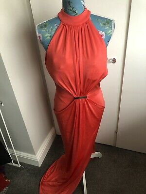 """£24.99 • Buy Ladies River Island Coral Evening Dress Size 12 Chest 36"""" NEW WITH TAGS"""