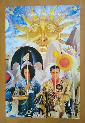 £30.79 • Buy VTG Poster Tears For Fears Sowing The Seeds Of Love Album Art Promo 1980s Rare