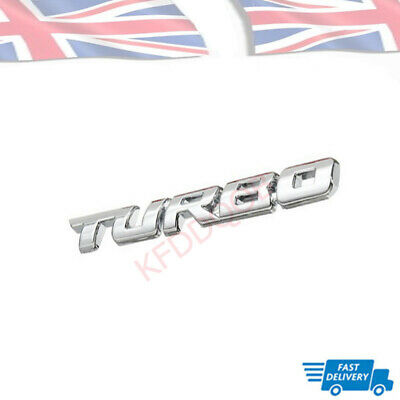 £3.93 • Buy Auto Car Styling Decal Logo 3D Silver TURBO Letter Sticker Metal Emblem Badge UK