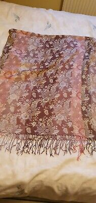 £0.99 • Buy Pinks & Browns Large Tapestry Style Scarf