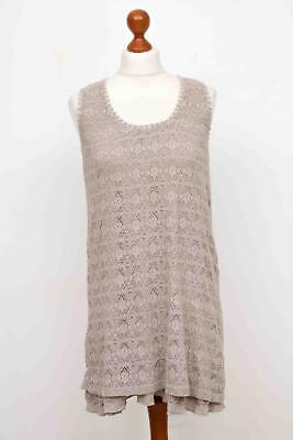 £17.08 • Buy BY TI MO Gray-Beige Lace Sleeveless Dress Tunic Gr. S.