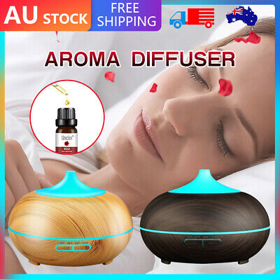 AU7.53 • Buy Aroma Aromatherapy Air Diffuser LED RoseEssential Oil Ultrasonic Humidifier Wood