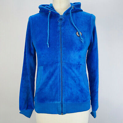 £25 • Buy Beautiful Rare Vintage Women's Fred Perry Velour Hoodie Size 8/10 Excellent Cond