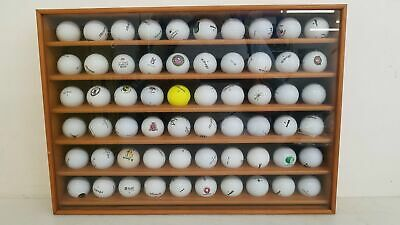 £7.20 • Buy Wood Display Case Of 60 Golf Course & Special Event Branded Golf Balls