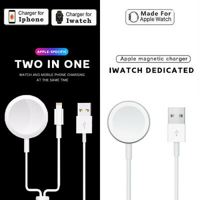 £5.39 • Buy 2in1 Apple Watch Series 6 SE 5 4 3 2 Charging Dock Magnetic IPhone Charger Safe