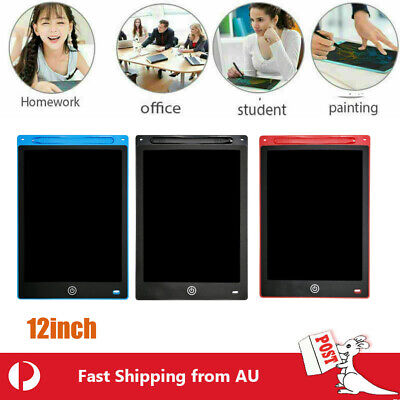 AU21.60 • Buy LCD Writing Drawing Tablet Pad Memo Notepad Board For Children Notepad EHM 12Inc