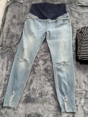 £3.20 • Buy Maternity New Look Skinny Over Bump Jeans Size 14. Light Blue