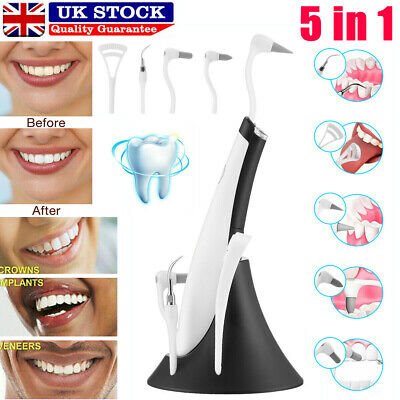 £5.19 • Buy 5 In 1 Ultrasonic LED Electric Tooth Polishing Cleaner Oral Teeth Cleaning Kit