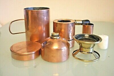 £61 • Buy  Copper & Brass Picnic Stove/Drink Warmer With Kettle Compact 4 3/4''(12cm) Tall