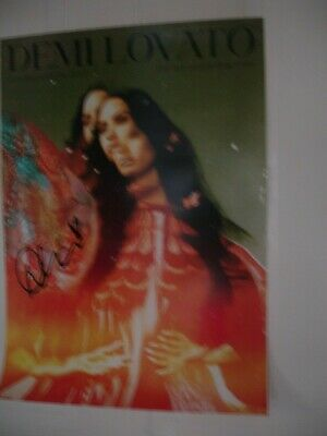 £39.99 • Buy Demi Lovato 2 X Signed Poster Black & Green UK Exclusive Dancing With The Devil