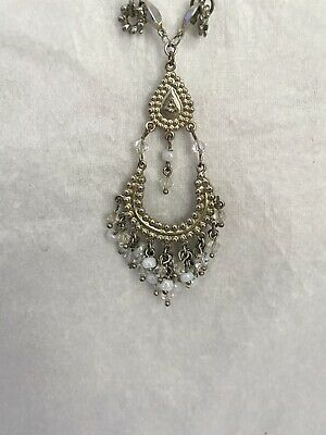 £3 • Buy Oasis Silver Toned Beaded Dangly Necklace