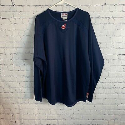 $25 • Buy Majestic Athletic Cleveland Indians Therma Base Long Sleeve Pullover Size Large