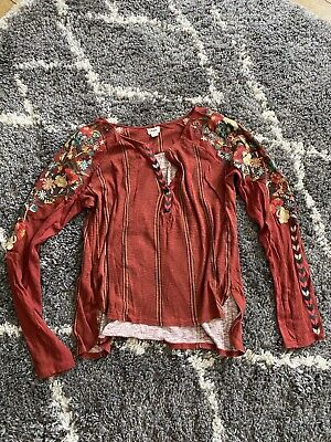 $ CDN13.05 • Buy Tiny @ Anthropologie Embroidered Flower Top Small