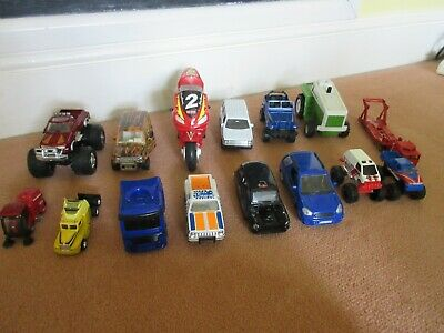£4.99 • Buy 15 X Toy Cars, 4x4, Sweeper, Bike, Trailers, Taxi, Cabs