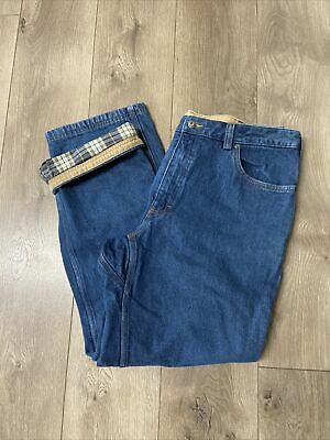 $19.99 • Buy Duluth Trading Co. Men's Flannel-Lined Jeans Ballroom 40 X 32