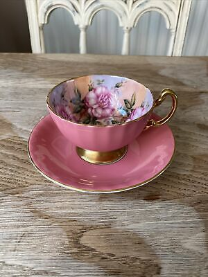 £55 • Buy Aynsley Cabbage Rose Cabinet Cup And Saucer