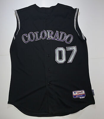 $69.99 • Buy Majestic Cool Base Authentic Colorado Rockies Jersey-07 World Series-Sleevless👀