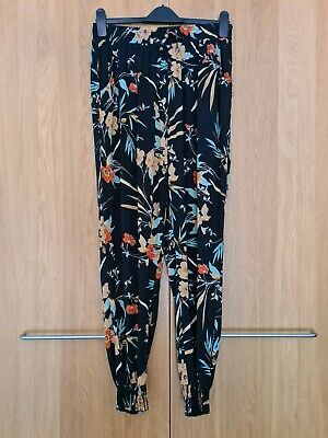 £8.99 • Buy Ladies CAMEO ROSE Black Floral Patterned Print Harem Style Trousers Size 14