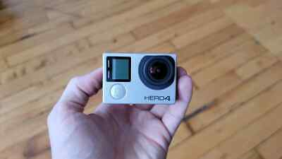 AU66.58 • Buy GoPro HERO4 Action Camera - Silver With Rear Screen