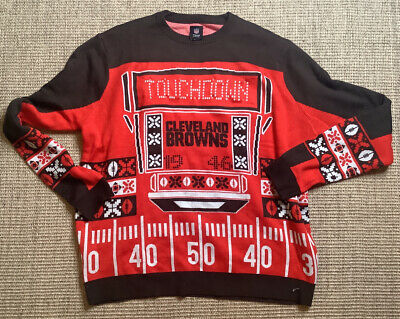 $37.99 • Buy NFL TEAM APPAREL Cleveland Brown Men's XL UGLY CHRISTMAS SWEATER Shirt