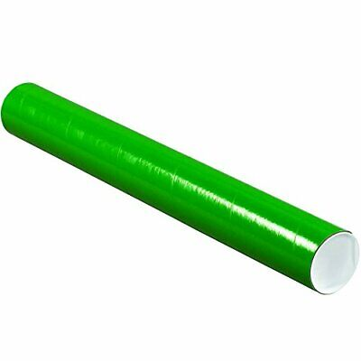 $75.83 • Buy Partners Brand PP3024G Mailing Tubes With Caps 3  X 24  Green Pack Of 24