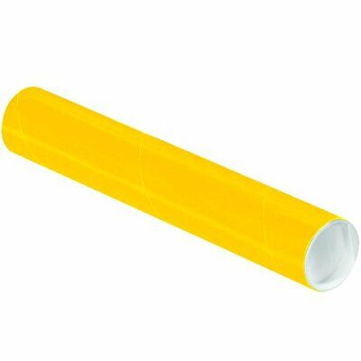 $87.71 • Buy BOX USA Yellow Mailing Tubes With Caps 2 Inch X 12 Inch Pack Of 50 For Shippi...