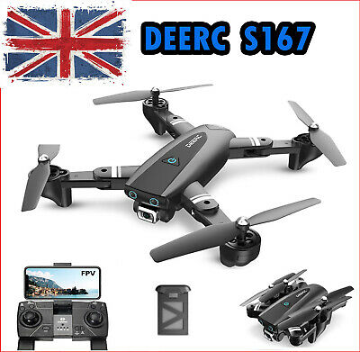 £42 • Buy Deerc S167 Foldable Drone With 1080P HD Camera Wifi GPS FPV 2.4G RC Quadcopter
