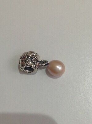£25 • Buy Authentic Pandora Rare Pearl Of Hearts Dangle Charm Hardly Used