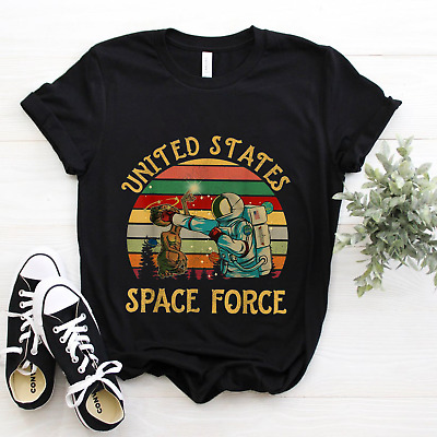 $ CDN13.83 • Buy Vintage United States Space Force Funny Astronaut T Shirt S-5XL Black