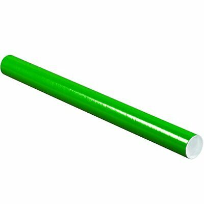 $97.49 • Buy Partners Brand PP2024G Mailing Tubes With Caps 2  X 24  Green Pack Of 50
